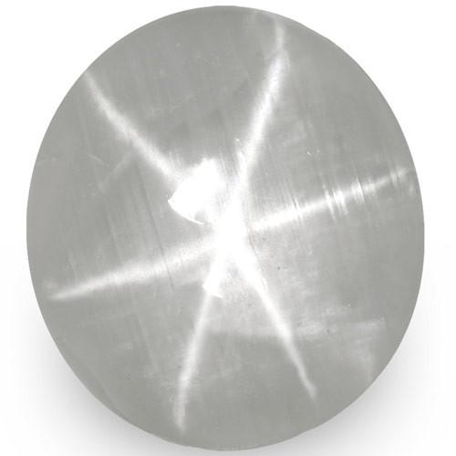 IGI Certified Sri Lanka Fancy Star Sapphire, 3.75 Carats, Soft Blue-Grey