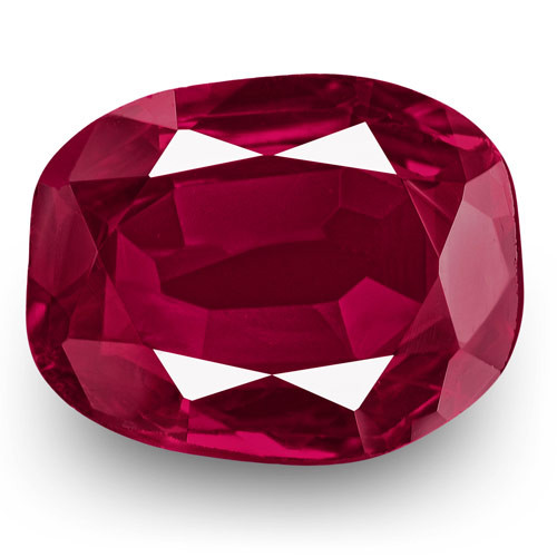 GRS Certified Thailand Ruby, 2.05 Carats, Deep Magenta Red