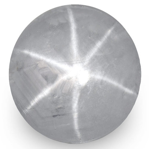 IGI Certified Sri Lanka Fancy Star Sapphire, 5.55 Carats, Bluish Grey Round
