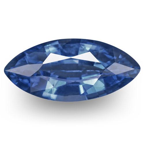 IGI Certified Burma Blue Sapphire, 1.09 Carats, Cornflower Blue Marquise