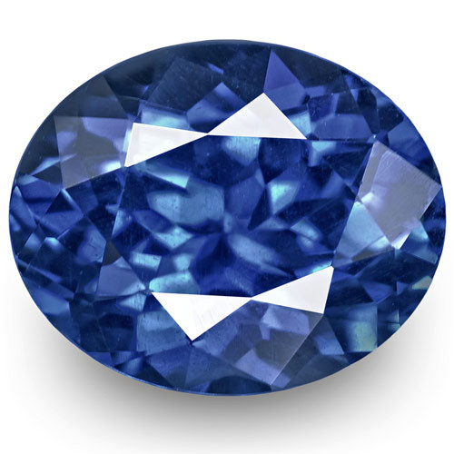 GRS Certified Sri Lanka Blue Sapphire, 1.34 Carats, Vivid Royal Blue Oval