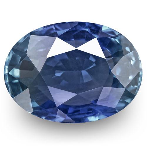 IGI Certified Burma Blue Sapphire, 1.89 Carats, Intense Blue Oval