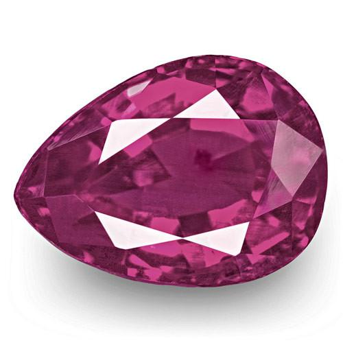 IGI Certified Pakistan Pink Sapphire, 0.76 Carats, Rich Purplish Pink Pear