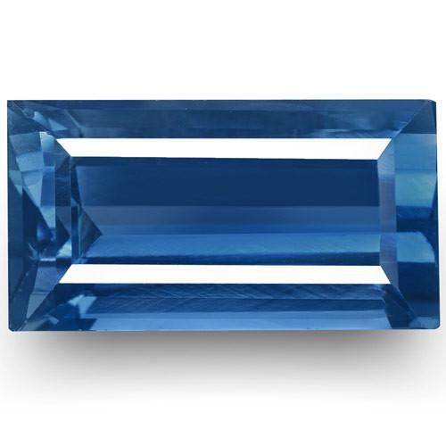 GIA & GRS Certified Madagascar Blue Sapphire, 2.47 Carats, Rectangular