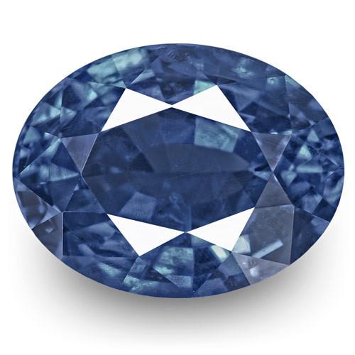 IGI Certified Burma Blue Sapphire, 1.34 Carats, Deep Blue Oval