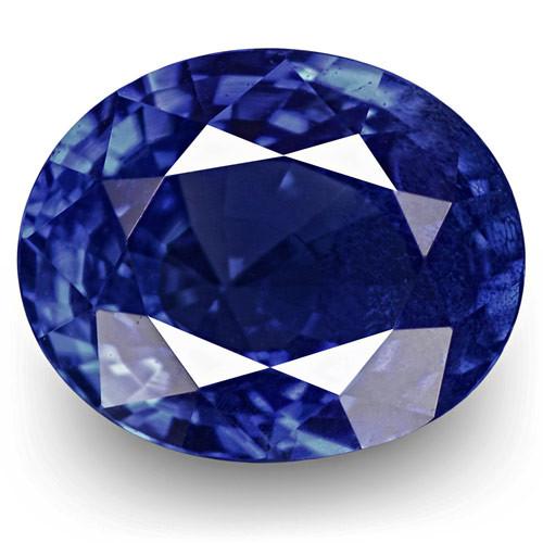 IGI Certified Burma Blue Sapphire, 1.10 Carats, Royal Blue Oval