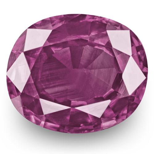 IGI Certified Pakistan Pink Sapphire, 1.24 Carats, Purplish Pink Oval
