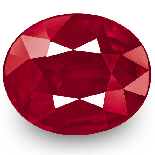 GRS Certified Mozambique Ruby, 3.50 Carats, Velvety Pinkish Red Oval