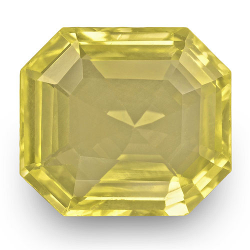 IGI Certified Sri Lanka Yellow Sapphire, 4.07 Carats, Lustrous Yellow