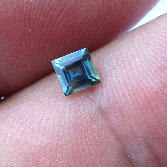 0.38cts Natural Australian Blue Square Cut