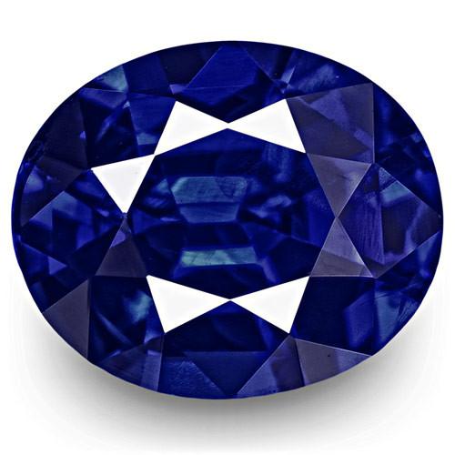 GRS Certified Sri Lanka Blue Sapphire, 1.00 Carats, Fiery Vivid Royal Blue