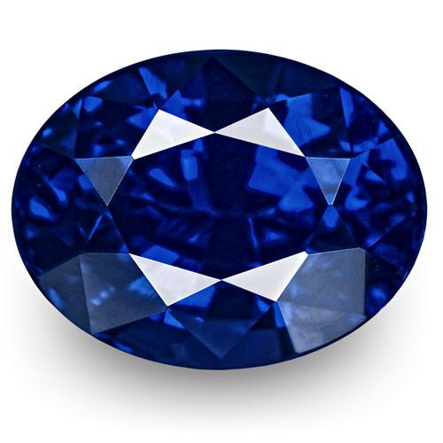 GRS Certified Madagascar Blue Sapphire, 1.19 Carats, Fiery Rich Royal Blue