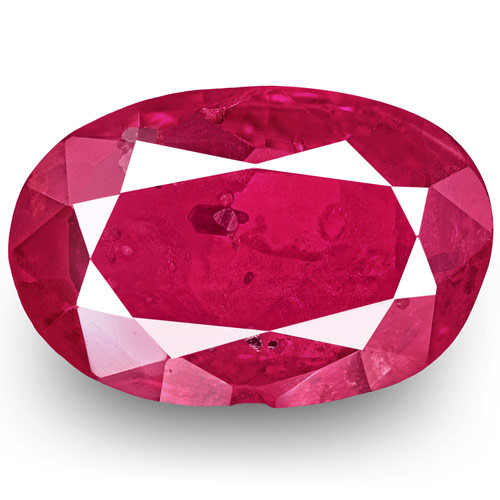 IGI Certified Burma Ruby, 1.16 Carats, Pinkish Red Oval