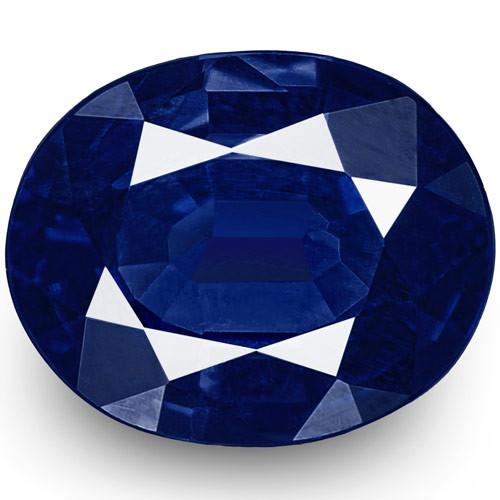 IGI Certified Nigeria Blue Sapphire, 0.57 Carats, Intense Royal Blue Oval