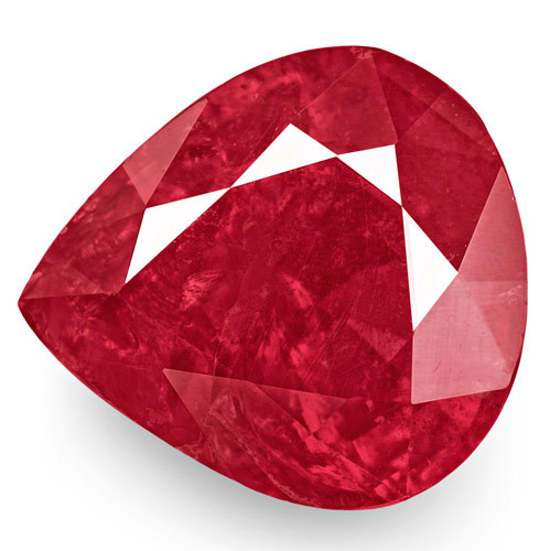 IGI Certified Mozambique Ruby, 2.28 Carats, Deep Pinkish Red Pear