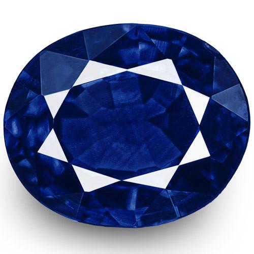 IGI Certified Nigeria Blue Sapphire, 0.49 Carats, Intense Royal Blue Oval