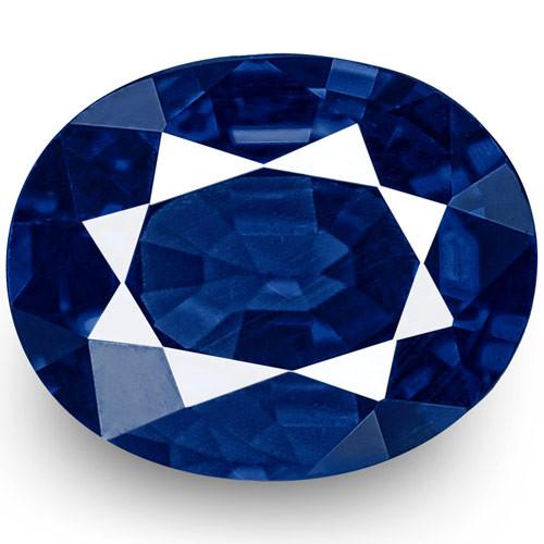 GII Certified Nigeria Blue Sapphire, 0.45 Carats, Intense Royal Blue Oval