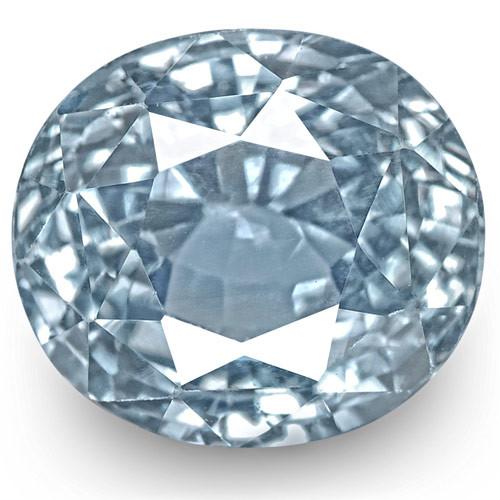 IGI Certified Sri Lanka Blue Sapphire, 3.99 Carats, Lustrous Blue Oval