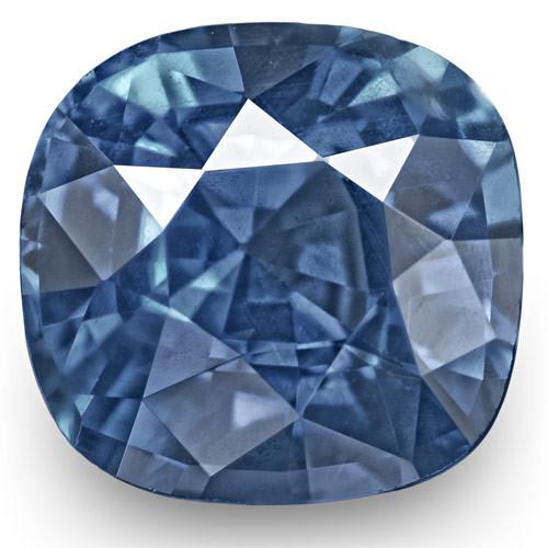 GRS Certified Sri Lanka Blue Sapphire, 1.70 Carats, Blue Cushion