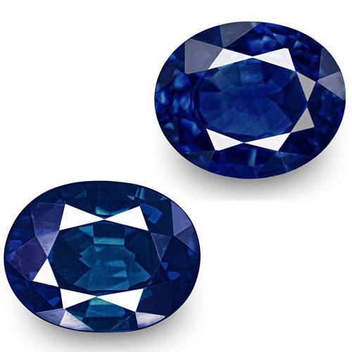 GIA & IGI Certified Nigeria Blue Sapphires, 1.08 Carats, Oval