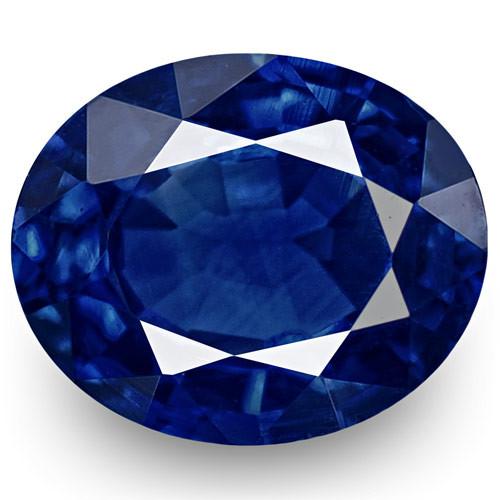 IGI Certified Nigeria Blue Sapphire, 0.54 Carats, Deep Intense Royal Blue