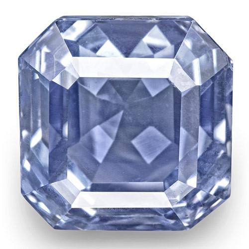IGI Certified Burma Blue Sapphire, 8.23 Carats, Lustrous Blue Emerald Cut