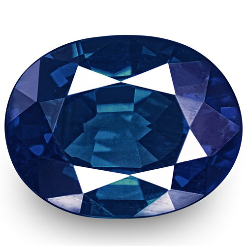 GIA Certified Nigeria Blue Sapphire, 0.54 Carats, Deep Intense Royal Blue