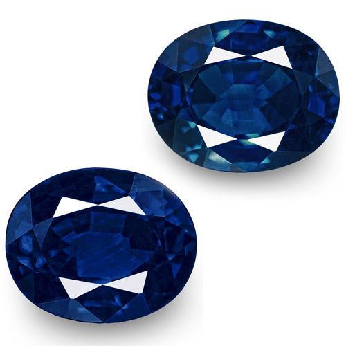 IGI Certified Nigeria Blue Sapphires, 1.12 Carats, Intense Royal Blue Oval