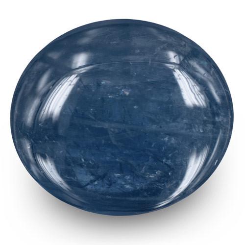 Burma Blue Sapphire, 12.08 Carats, Deep Blue Oval