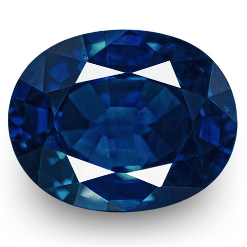 IGI Certified Nigeria Blue Sapphire, 0.56 Carats, Intense Royal Blue Oval