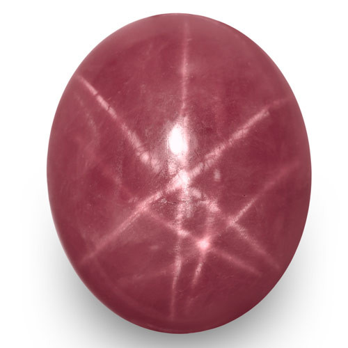IGI Certified Vietnam Star Ruby, 7.51 Carats, Pinkish Red Oval