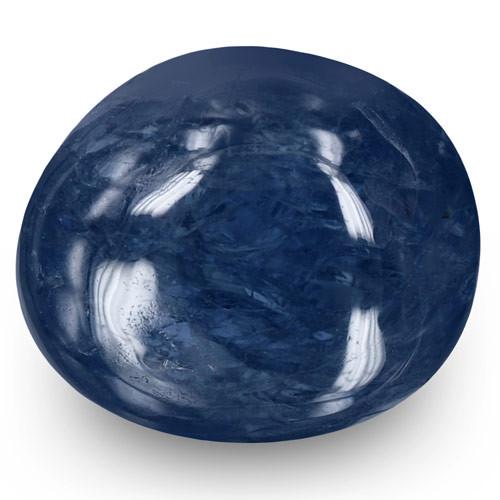 Burma Blue Sapphire, 6.70 Carats, Deep Blue Oval