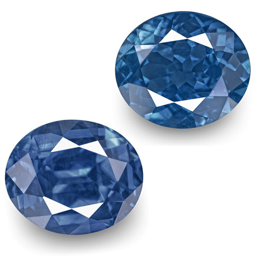 GRS Certified Madagascar Blue Sapphires, 2.45 Carats, Cornflower Blue Oval