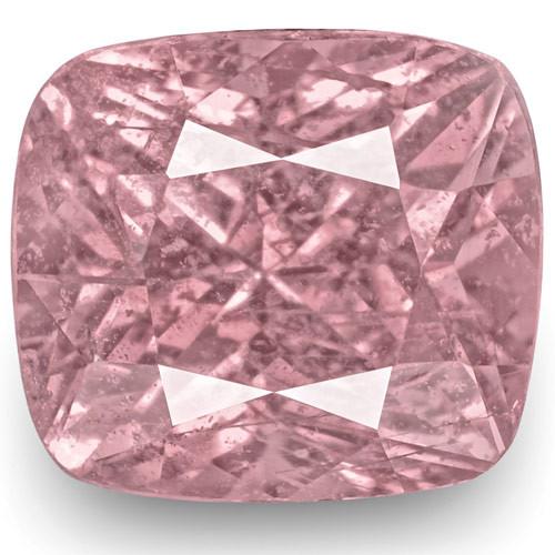 IGI Certified Madagascar Pink Sapphire, 1.32 Carats, Baby Pink Cushion