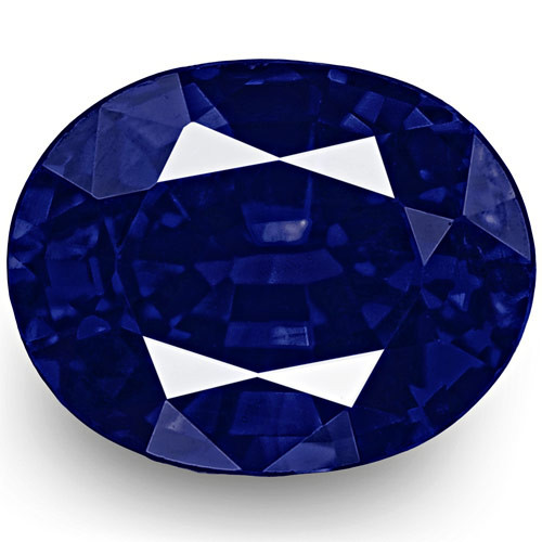IGI Certified Nigeria Blue Sapphire, 0.59 Carats, Rich Velvety Royal Blue