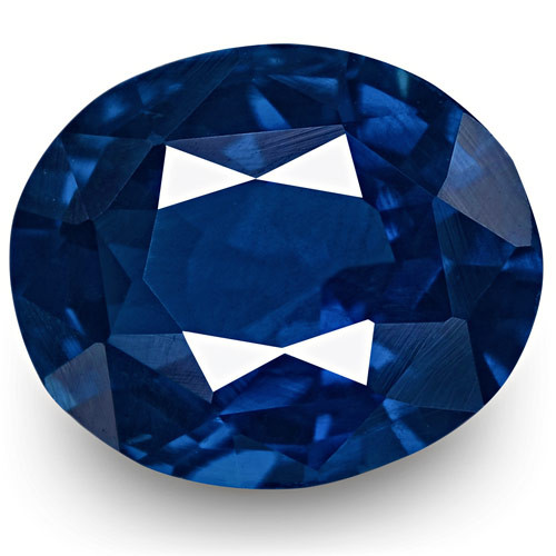 IGI Certified Madagascar Blue Sapphire, 0.87 Carats, Vivid Royal Blue Oval
