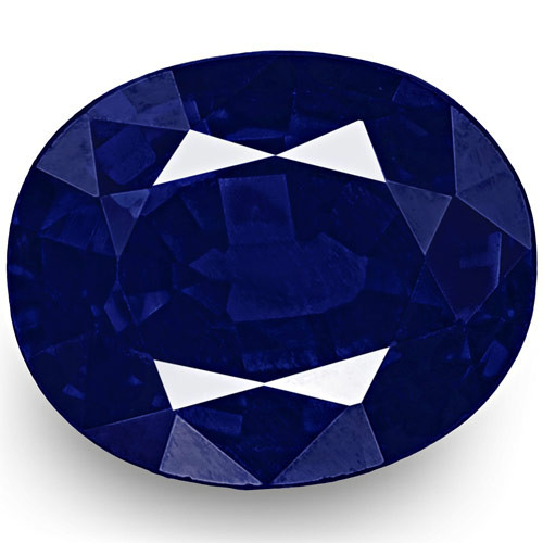 IGI Certified Nigeria Blue Sapphire, 0.48 Carats, Rich Velvety Royal Blue