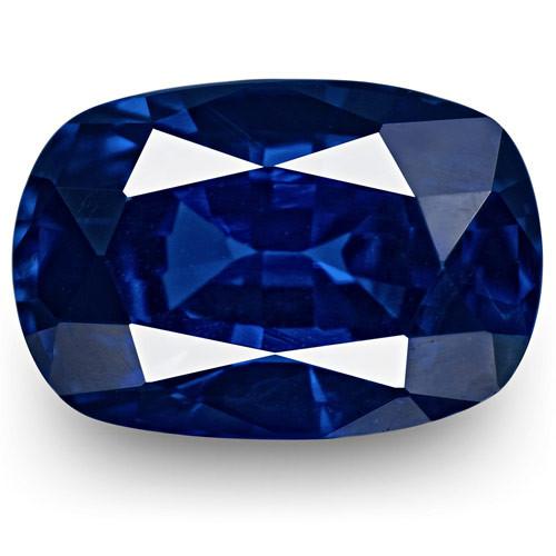 IGI Certified Madagascar Blue Sapphire, 1.20 Carats, Cushion