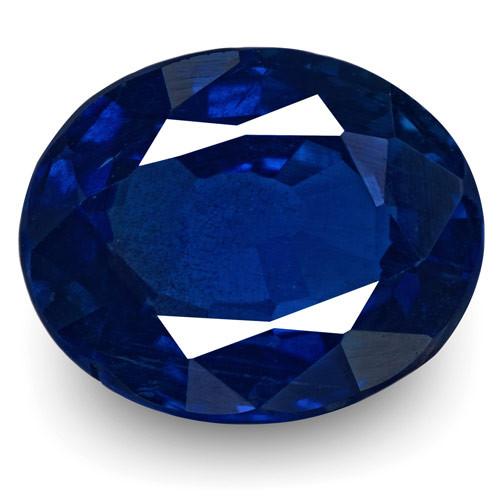 IGI Certified Madagascar Blue Sapphire, 0.90 Carats, Royal Blue Oval