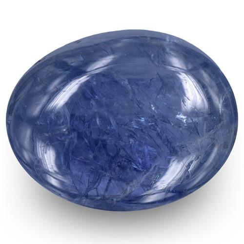 Burma Blue Sapphire, 9.13 Carats, Intense Blue Oval