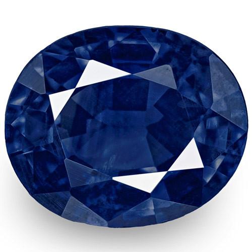 IGI Certified Nigeria Blue Sapphire, 0.52 Carats, Intense Cornflower Blue