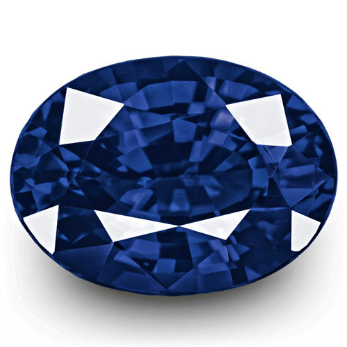 GRS Certified Madagascar Blue Sapphire, 1.09 Carats, Vivid Royal Blue Oval