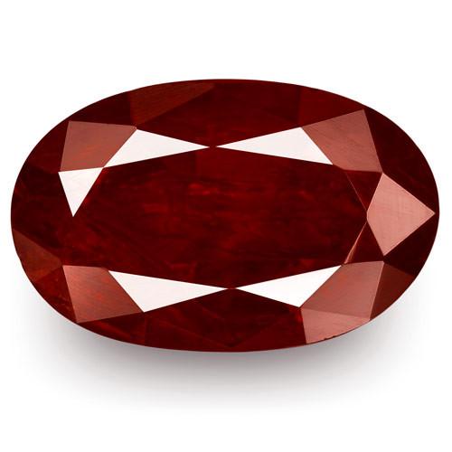 IGI Certified Madagascar Ruby, 2.77 Carats, Dark Pigeon Blood Red Oval