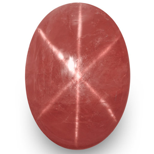 IGI Certified Vietnam Star Ruby, 10.39 Carats, Pinkish Orangish Red Oval
