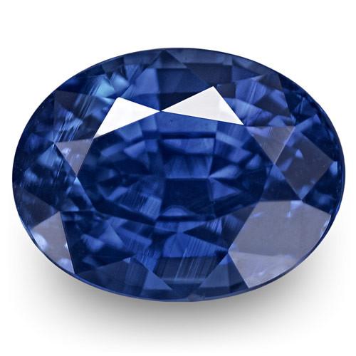 GRS Certified Sri Lanka Blue Sapphire, 1.37 Carats, Vivid Royal Blue Oval