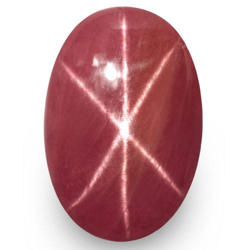 IGI Certified Vietnam Star Ruby, 6.66 Carats, Pinkish Orangish Red Oval