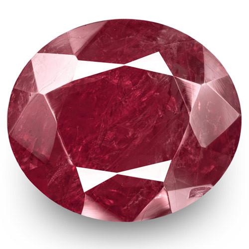 GRS Certified Burma Ruby, 11.51 Carats, Deep Magenta Red Oval