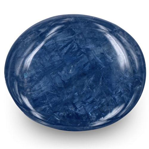 Burma Blue Sapphire, 8.63 Carats, Deep Blue Oval