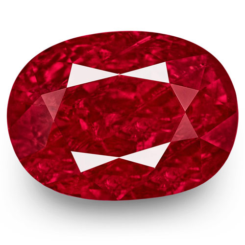 GRS Certified Burma Ruby, 3.55 Carats, Rich Intense Purplish Red Oval
