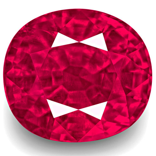 GRS Certified Burma Ruby, 3.94 Carats, Lively Vivid Pinkish Red Oval